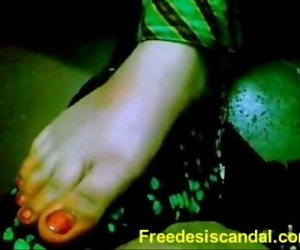 Hot Footjob By Desi Girl 2 min