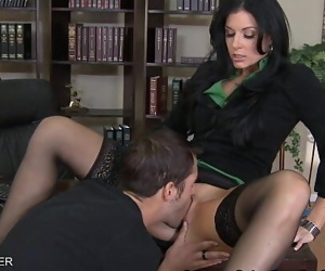 Brunette India Summer fuck a..